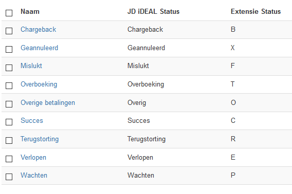 JD iDEAL Orderstatus
